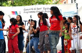Festa del Programma Viva gli Anziani ! al quartiere Esquilino