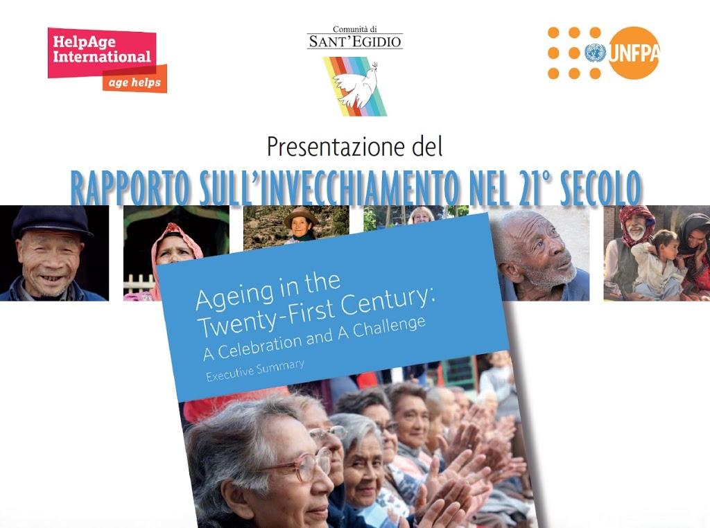 Presentazione del 1° rapporto sull'invecchiamento globale nel xxi secolo: un traguardo e una sfida