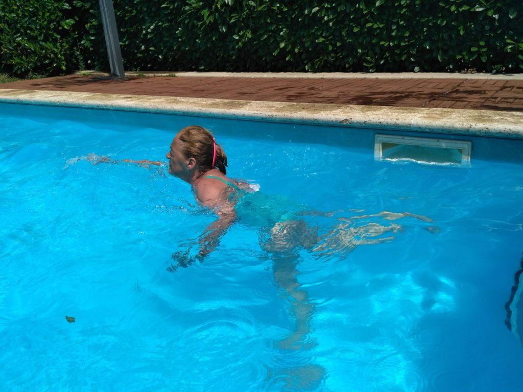 In piscina !