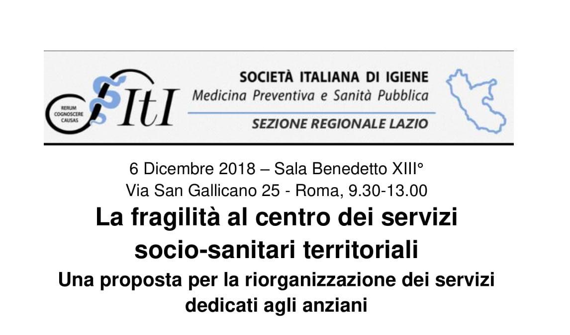 La fragilità al centro dei servizi socio-sanitari territoriali