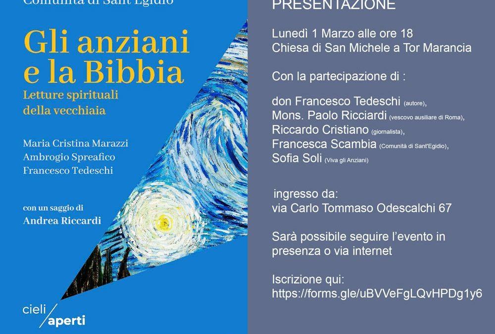 """""""Gli anziani e la Bibbia"""". Presentazione 1 marzo ore 18. In live streaming"""