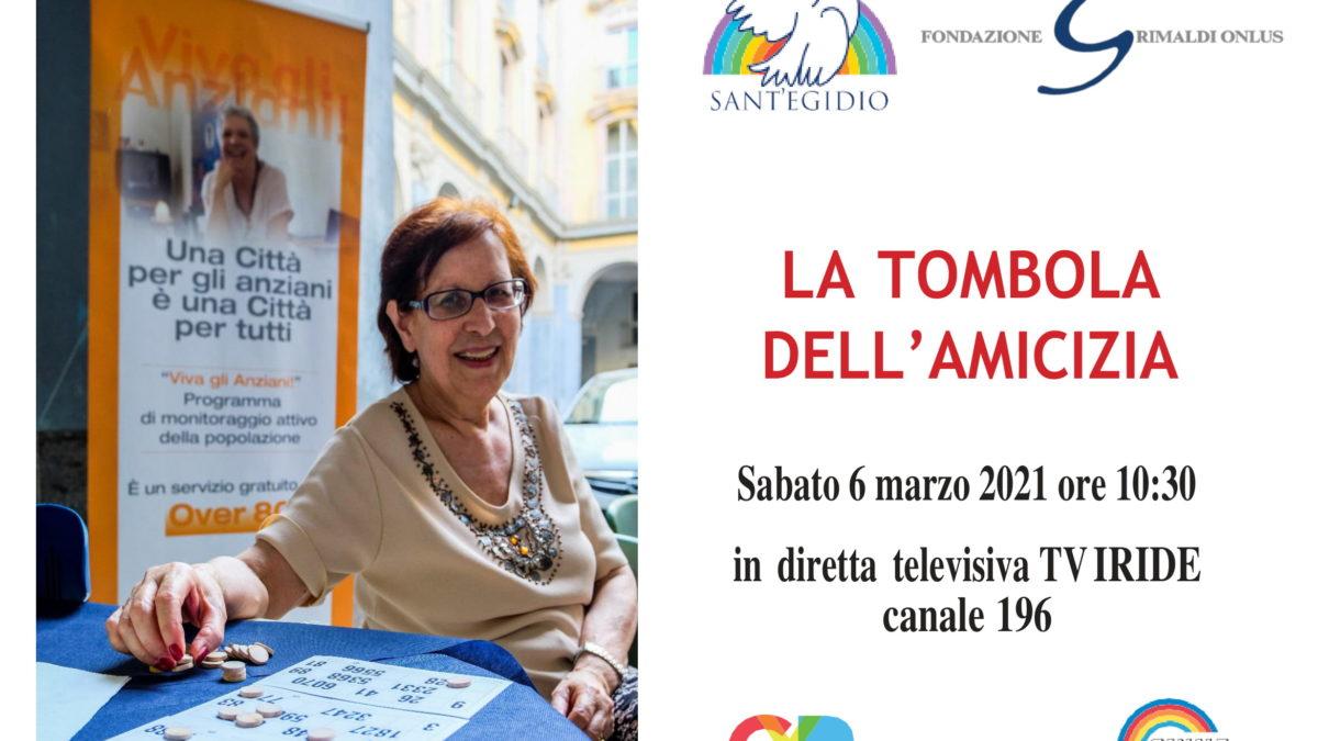 Tombola dell'amicizia a Napoli via TV per 500 anziani, sabato 6 marzo 10.30