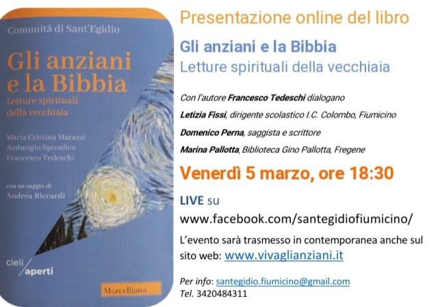 """Venerdì 5 marzo, in diretta da Fiumicino, la presentazione de """"Gli Anziani e la Bibbia"""""""