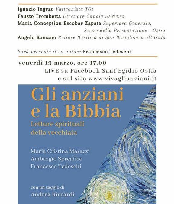 """Venerdì 19 marzo, in diretta da Ostia, la presentazione de """"Gli Anziani e la Bibbia"""""""